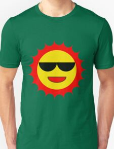 Cartoon Sun With Shades Unisex T-Shirt