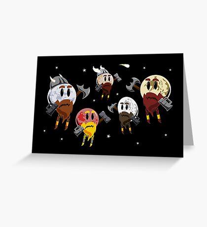 Dwarf Planets Greeting Card