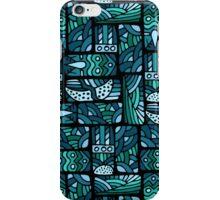 Ethnic blue pattern iPhone Case/Skin