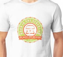 Retro Badge Seventies Orange Green Grunge Unisex T-Shirt