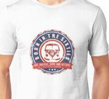 Retro Badge Sixties Red Blue Grunge Unisex T-Shirt