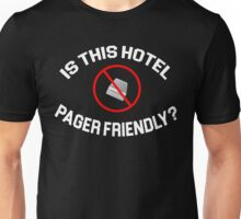 The Hangover Quote - Is This Hotel Pager Friendly? Unisex T-Shirt