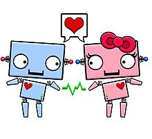 Robots in Love by SushiKittehs