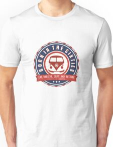 Retro Badge Sixties Red Blue Unisex T-Shirt