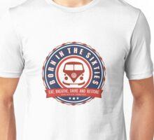 Retro Badge Sixties Red Blue Unisex T-Shirt