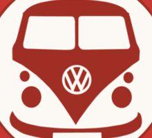 Retro Badge Sixties Red Blue Sticker