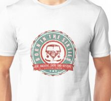 Retro Badge Sixties Red Green Grunge Unisex T-Shirt