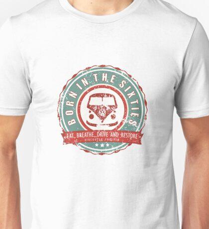 Retro Badge Sixties Red Green Grunge Unisex T-Shirt