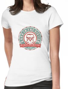 Retro Badge Sixties Red Green Grunge Womens Fitted T-Shirt