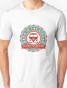 Retro Badge Sixties Red Green Unisex T-Shirt