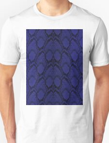 Midnight Blue Python Snake Skin Reptile Scales Unisex T-Shirt