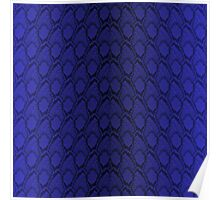Midnight Blue Python Snake Skin Reptile Scales Poster