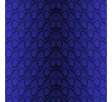 Midnight Blue Python Snake Skin Reptile Scales Photographic Print