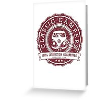 Retro Badge Dark Red VW Classic Grunge Greeting Card