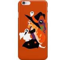Witch Holding a Pumpkin iPhone Case/Skin