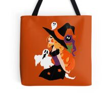 Witch Holding a Pumpkin Tote Bag