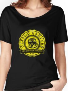 Retro Badge Yellow VW Classic Grunge Women's Relaxed Fit T-Shirt