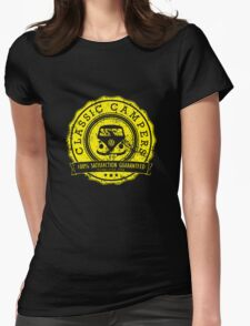 Retro Badge Yellow VW Classic Grunge Womens Fitted T-Shirt