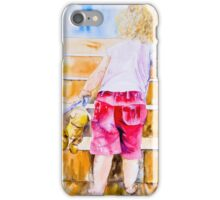 Bear on the Stairs iPhone Case/Skin