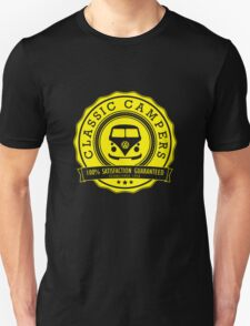 Retro Badge Yellow VW Classic Unisex T-Shirt