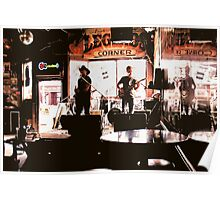 Country Music Rockin' Out at Legends Corner, Nashville, Tennessee Poster