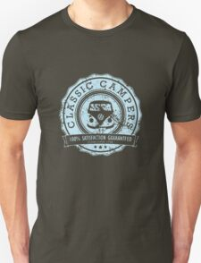 Retro Badge Pale Blue VW Classic Grunge Unisex T-Shirt