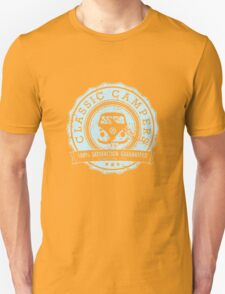 Retro Badge Pale Blue VW Classic Grunge T-Shirt