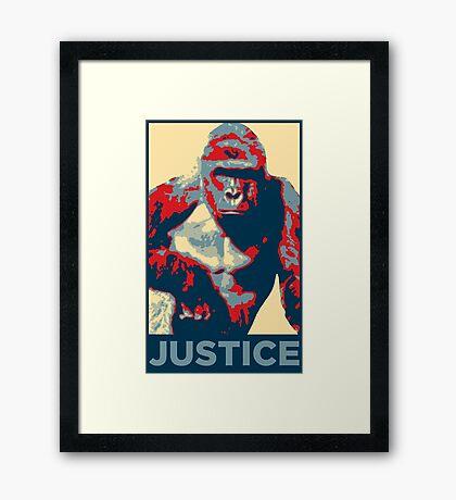 Harambe: Justice Framed Print