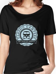Retro Badge Pale Blue VW Classic Women's Relaxed Fit T-Shirt