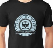 Retro Badge Pale Blue VW Classic Unisex T-Shirt