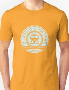 Retro Badge Pale Blue VW Classic T-Shirt