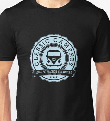 Retro Badge Pale Blue VW Classic Unisex T-Shirt