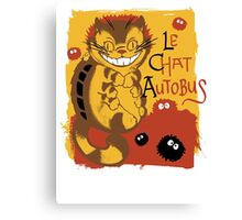 Le Chat Autobus - Catbus Canvas Print