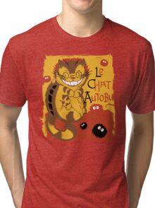 Le Chat Autobus - Catbus Tri-blend T-Shirt
