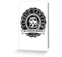 Retro Badge Black VW Classic Grunge Greeting Card