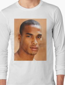 Oil painting of an afro brazilian model by Tommy Cross Long Sleeve T-Shirt