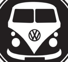 Retro Badge Black VW Classic Sticker