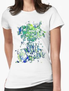 Abstract glitch design Womens Fitted T-Shirt
