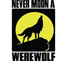 Never moon a werewolf Photographic Print