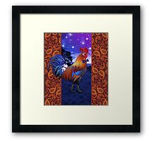 Rooster with a bowtie Framed Print