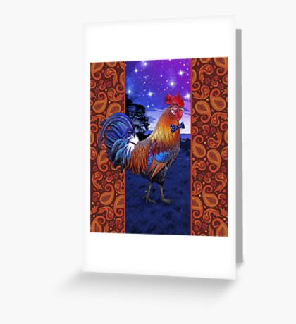 Rooster with a bowtie Greeting Card