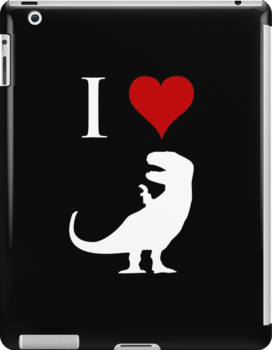 I Love Dinosaurs - T-Rex (white design) by jezkemp