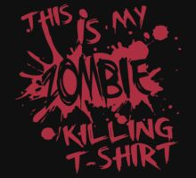 This is my zombie killing t-shirt by nektarinchen
