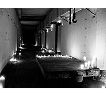 WWII Bunker in B&W Candlelight Photographic Print