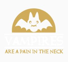 Vampires are a pain in the neck Kids Clothes