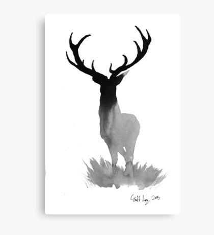 The Stag of Dawn Canvas Print