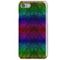 Bright Metallic Rainbow Python Snake Skin Horizontal Reptile Scales iPhone Case/Skin