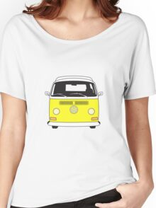 Early Bay VW Camper Front Yellow Women's Relaxed Fit T-Shirt