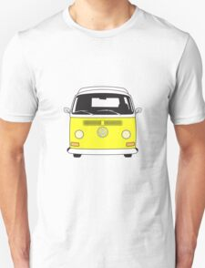 Early Bay VW Camper Front Yellow T-Shirt