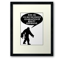 Combination of beauty and brains Framed Print